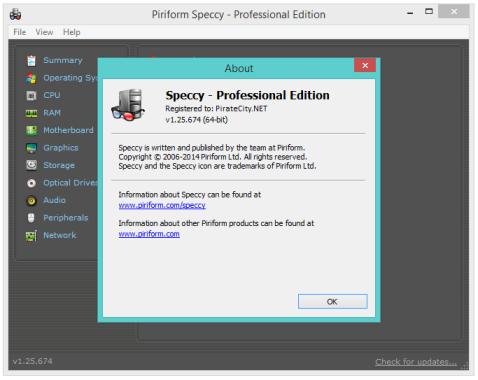 Speccy Pro license code