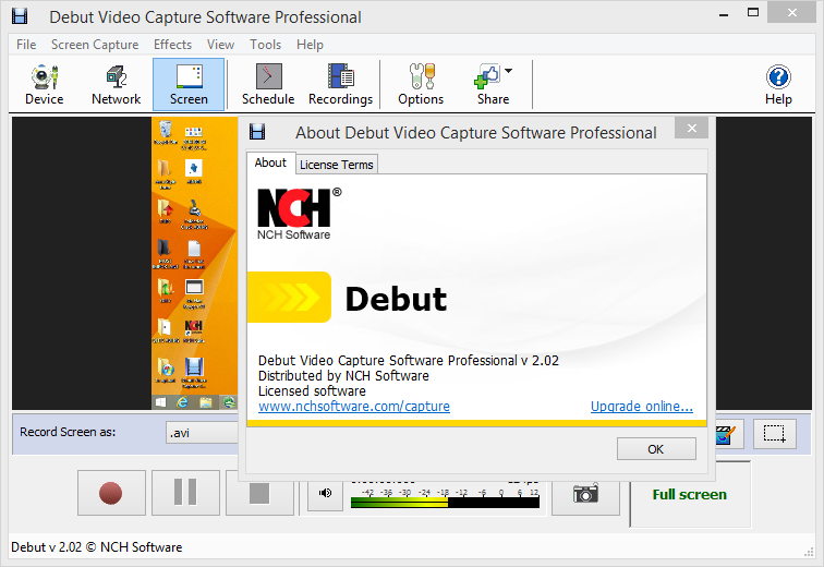 NCH Debut Video Capture crack download