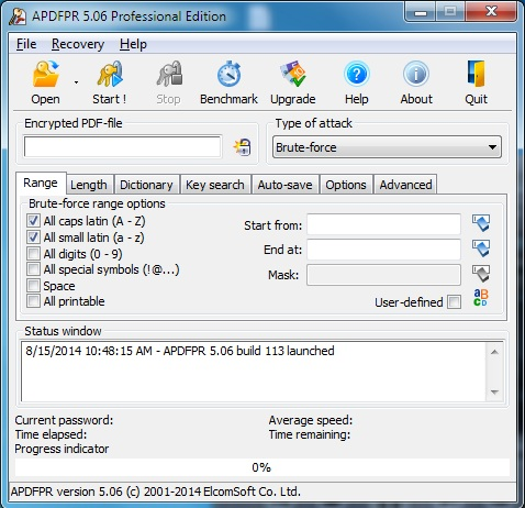Advanced PDF Password Recovery PROFESSIONAL license code