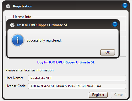 ImTOO DVD Ripper Ultimate license activation key