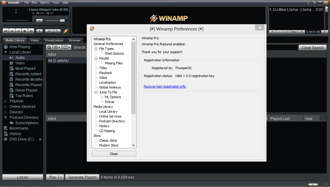Winamp PRO crack download
