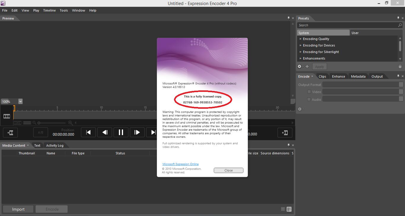 Microsoft Expression Encoder Crack Download