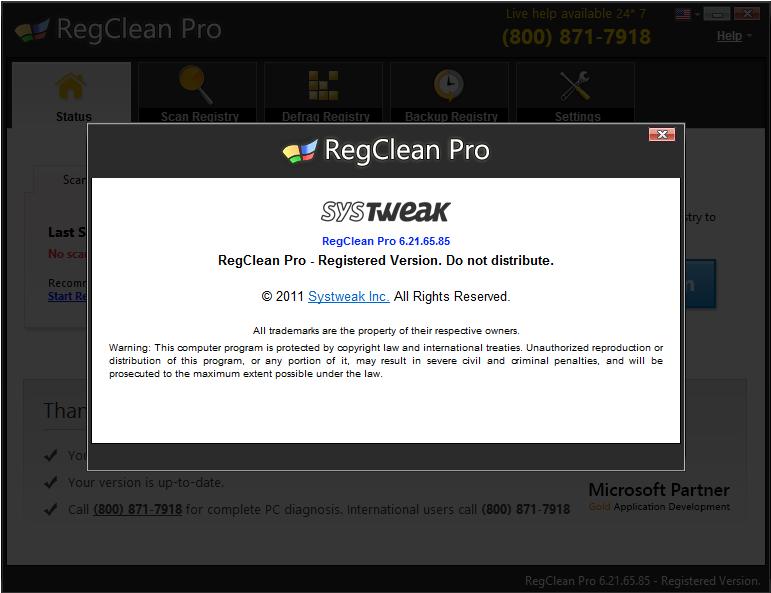 RegClean Pro license code