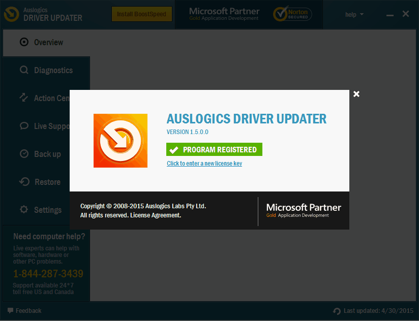Auslogics Driver Updater 1.5 Pre - activated Version