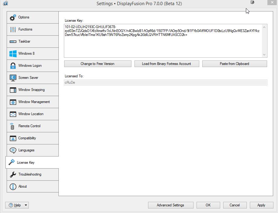 DisplayFusion Pro license key maker