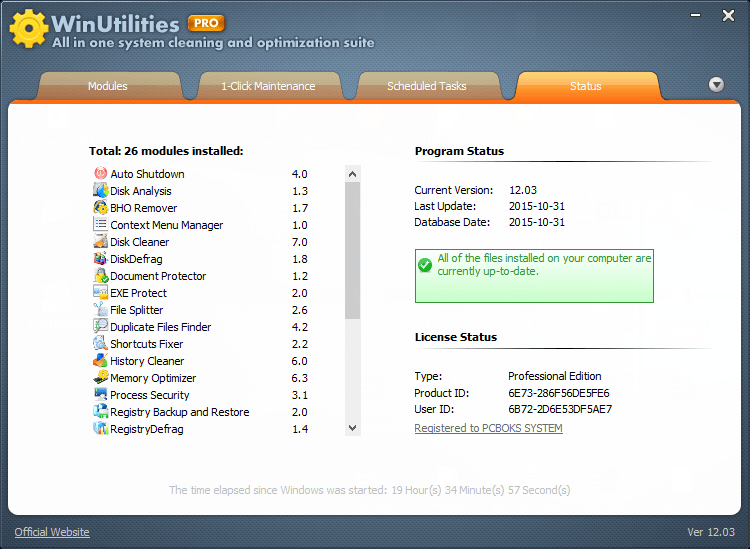 WinUtilities PRO serial numbers