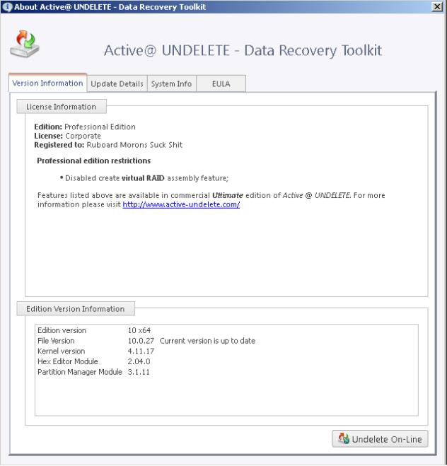 Active@ UNDELETE PRO patch download