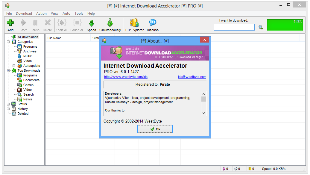 IDA Internet Download Accelerator key generator for any edition