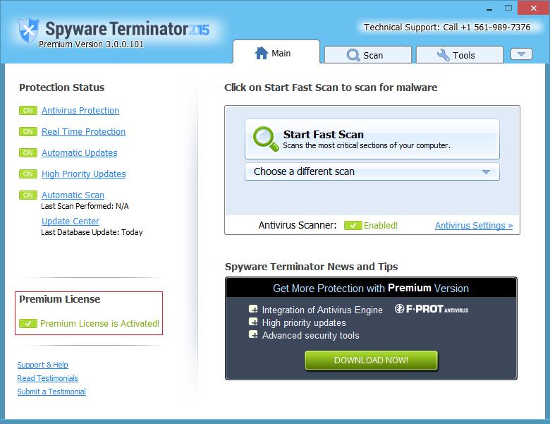 Spyware Terminator license code
