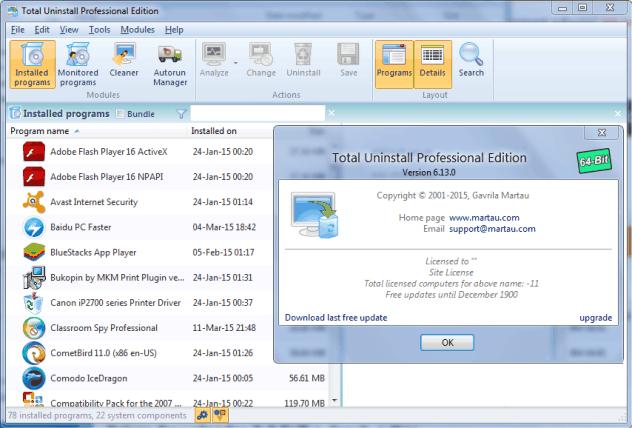 Total Uninstall crack download