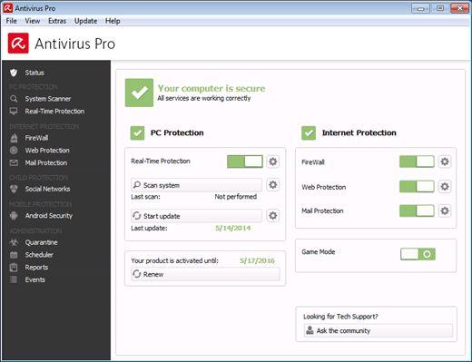Avira Antivirus PRO crack download