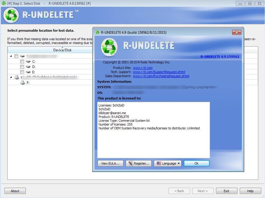 R-Undelete Registration Key