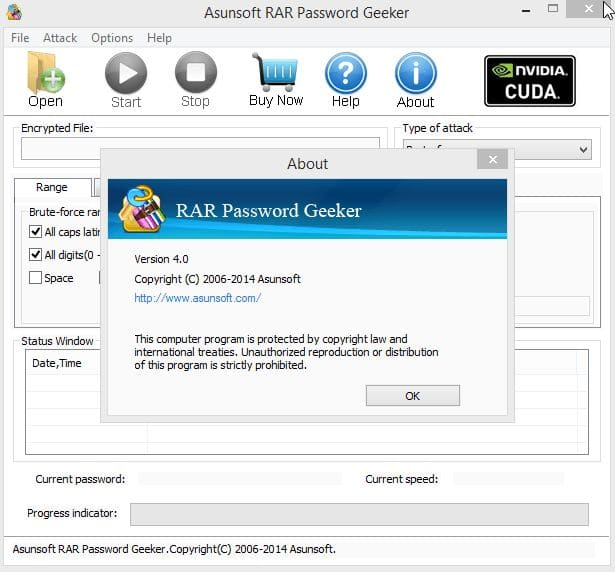 Asunsoft RAR Password Geeker license code