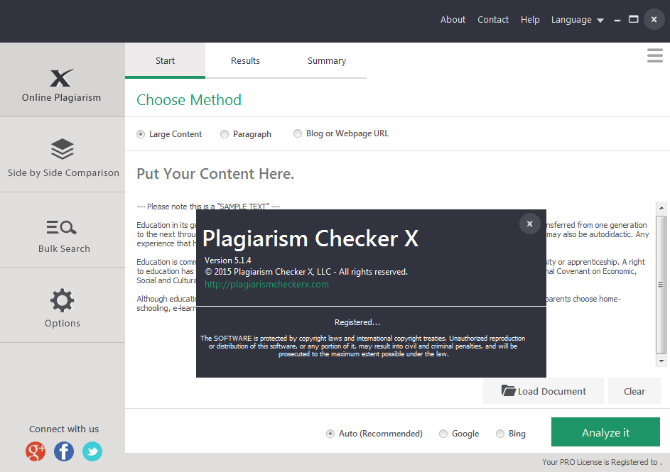 Plagiarism Checker X PRO serial for license activation
