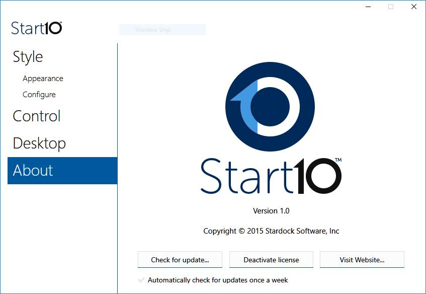 Stardock Start serial number for activation