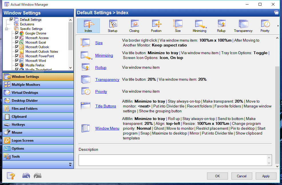 Actual Window Manager patch free download