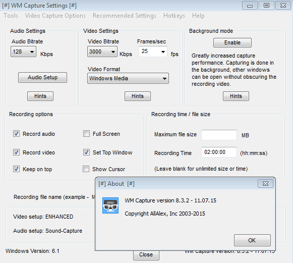 WM Capture activation license key