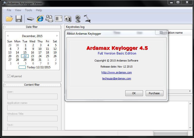 Ardamax Keylogger license code