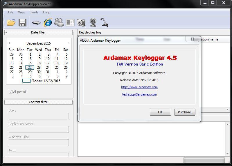 Ardamax Keylogger license code