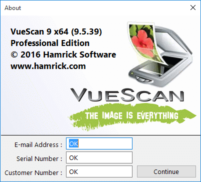 VueScan PRO license key for activation