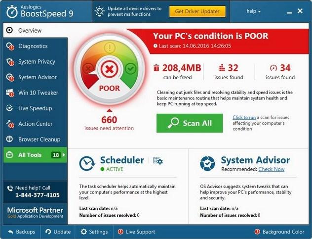 Auslogics BoostSpeed 9 license code
