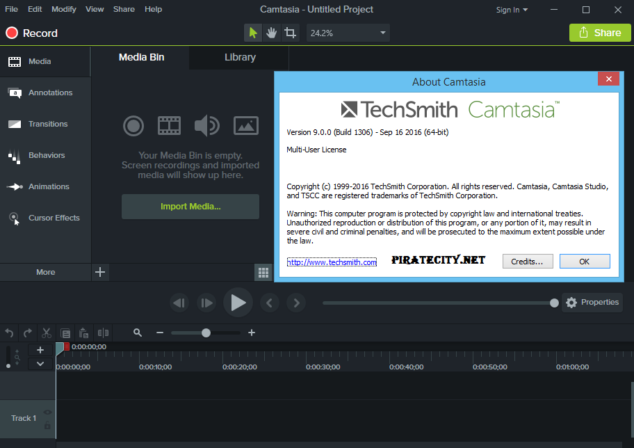 TechSmith Camtasia Studio 9.0.5 full crack