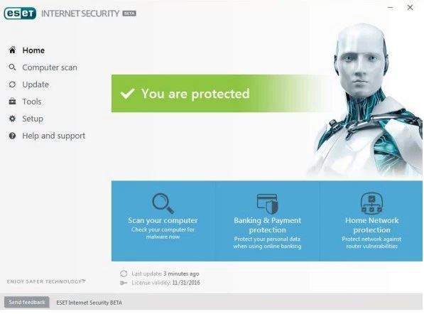 ESET Internet Security daily updated username & passwords