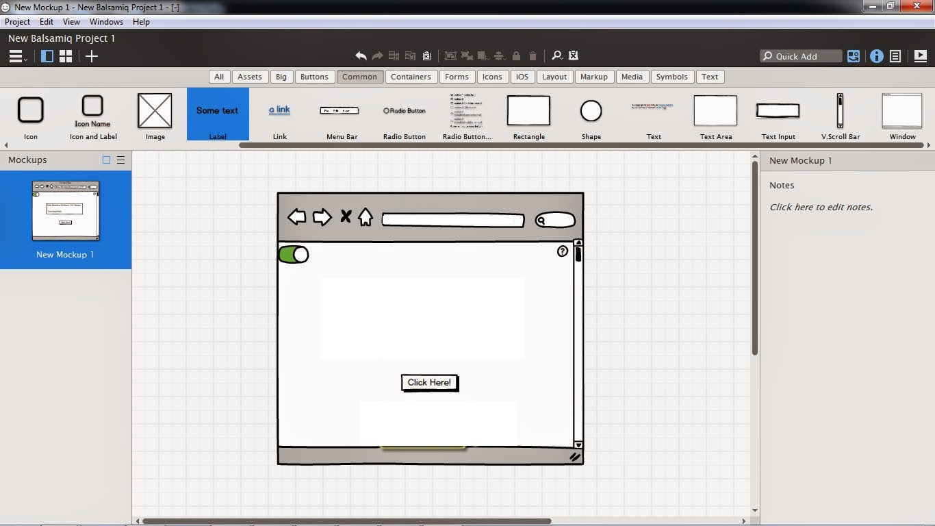 Features of Balsamiq Mockups 3.5.11