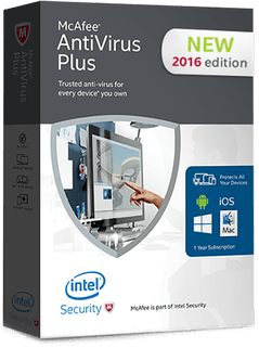McAfee AntiVirus Plus 2016 + license key torrent free download