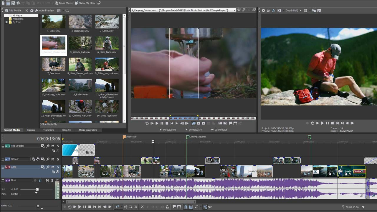 MAGIX VEGAS Movie Studio Platinum 14.0.0.122 free download torrent