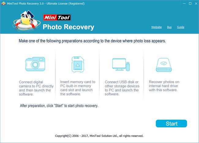 MiniTool Photo Recovery 3 registered version