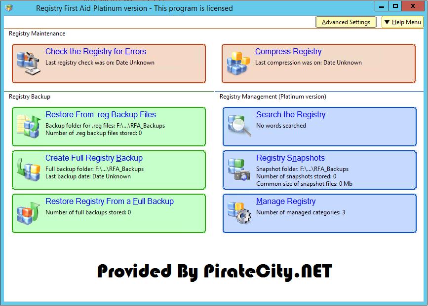 Registry First Aid Platinum full crack