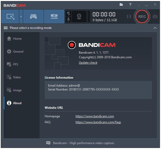Bandicam video recording software crack