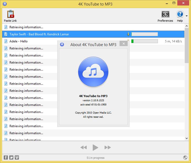 4K YouTube to MP3 full Crack