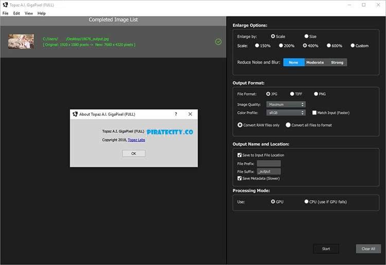 Topaz A.I. Gigapixel 3.1.1 full free torrent download