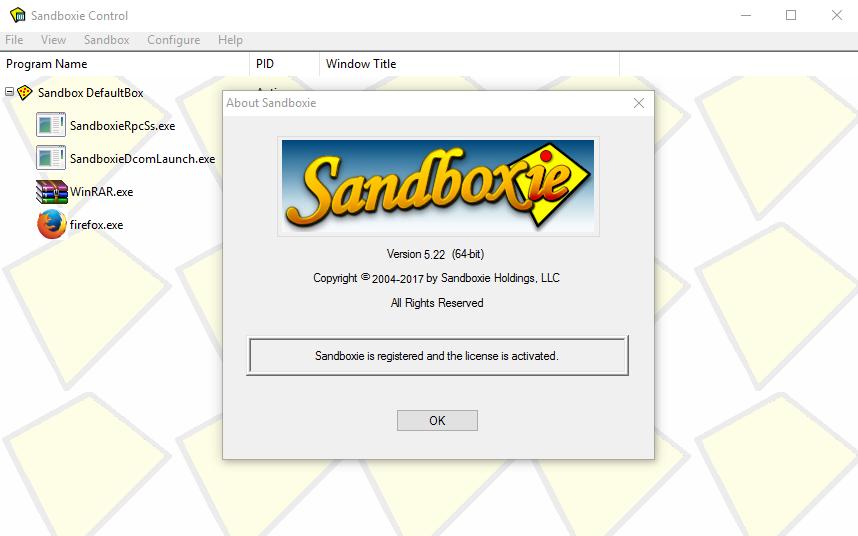 Sandboxie crack + serial number